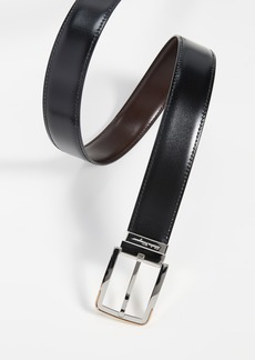 Salvatore Ferragamo Silver Buckle Reversible Belt