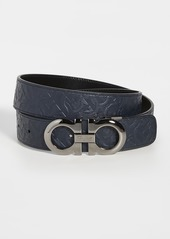 Salvatore Ferragamo Silver Double Gancio Adjustable Belt
