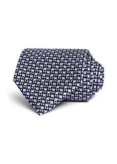 Salvatore Ferragamo Simba Elephant Silk Classic Tie
