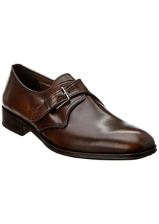 Salvatore Ferragamo Single Buckle Leather Oxford