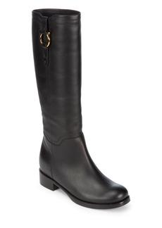 Salvatore Ferragamo Slip-On Leather Boots