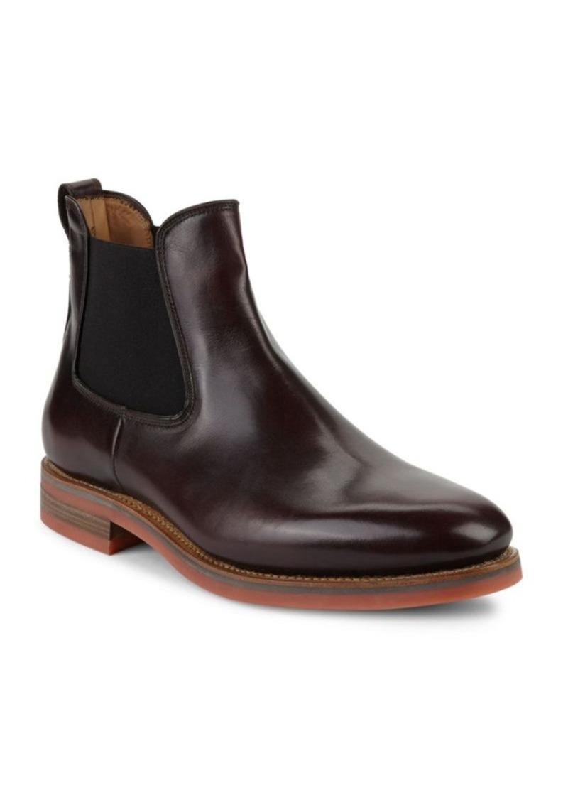 Salvatore Ferragamo Slip-On Leather Chelsea Boots