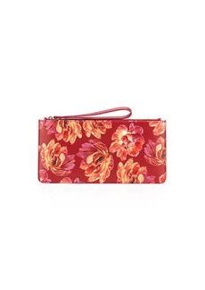 Ferragamo Small Floral-Print Zip Pouch Wristlet