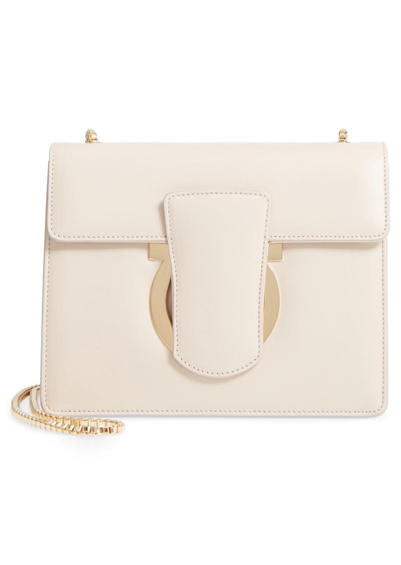 Salvatore Ferragamo Small Thalia Leather Crossbody Bag