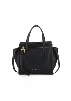 Salvatore Ferragamo Small Leather Tote Bag  Nero