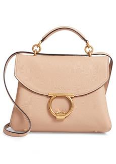 Salvatore Ferragamo Small Margot Leather Top Handle Bag