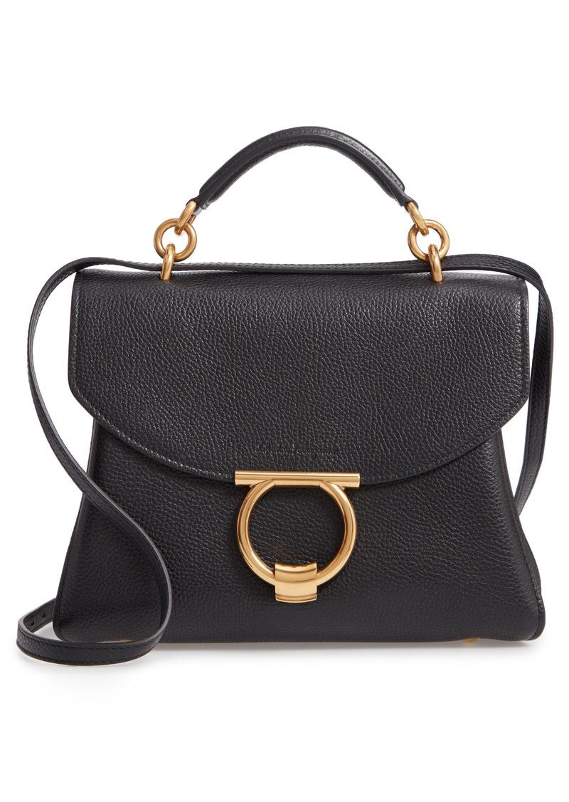 Ferragamo Salvatore Ferragamo Small Margot Leather Top Handle Bag ... 97edaec8c578c