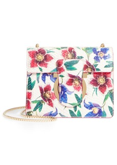 Salvatore Ferragamo Small Thalia Floral Print Genuine Snakeskin Shoulder Bag