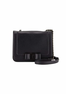 Salvatore Ferragamo Small Vara Bow Shoulder Bag with Tonal Hardware