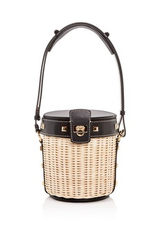 Salvatore Ferragamo Small Wicker Bucket Bag