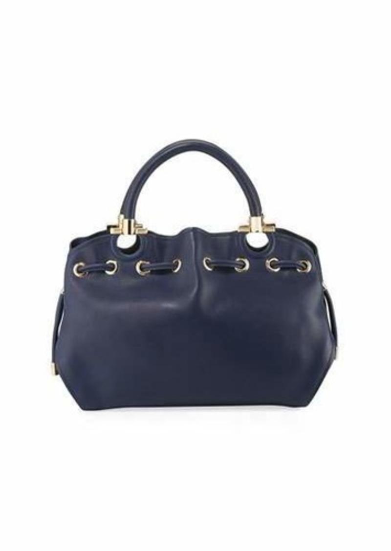 52af4922de5a SALE! Ferragamo Salvatore Ferragamo Smooth Leather Top Handle Bag