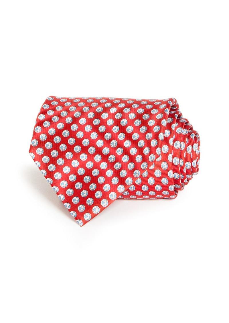 Salvatore Ferragamo Soccer Ball Print Silk Classic Tie