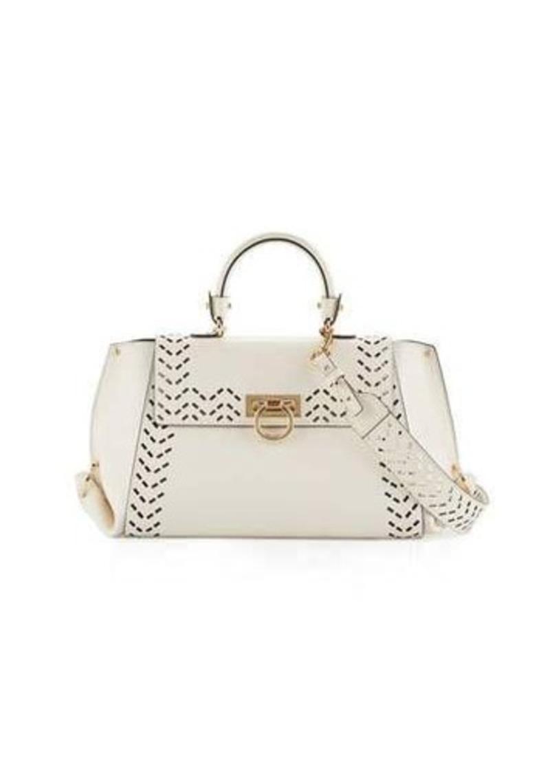 a0f142716390 Ferragamo Salvatore Ferragamo Sofia Medium Perforated Satchel Bag ...