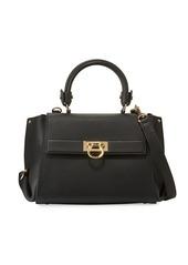 Salvatore Ferragamo Sofia Small Leather Satchel Bag