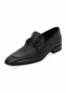Ferragamo Men's Soft Calfskin Slip On Gancini Loafer