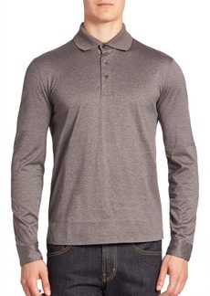 Ferragamo Solid Long Sleeves Polo