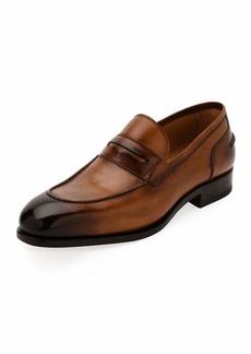 Ferragamo Men's Special Edition Tramezza Calf Leather Penny Loafer