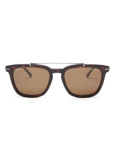 Salvatore Ferragamo Men's Square Metal Bar Sunglasses, 54mm