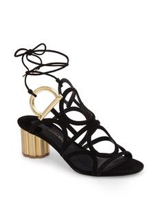 Salvatore Ferragamo Vinci Lace-Up Block Heel Sandal (Women)