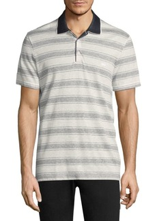 Ferragamo Stripe Cotton Polo