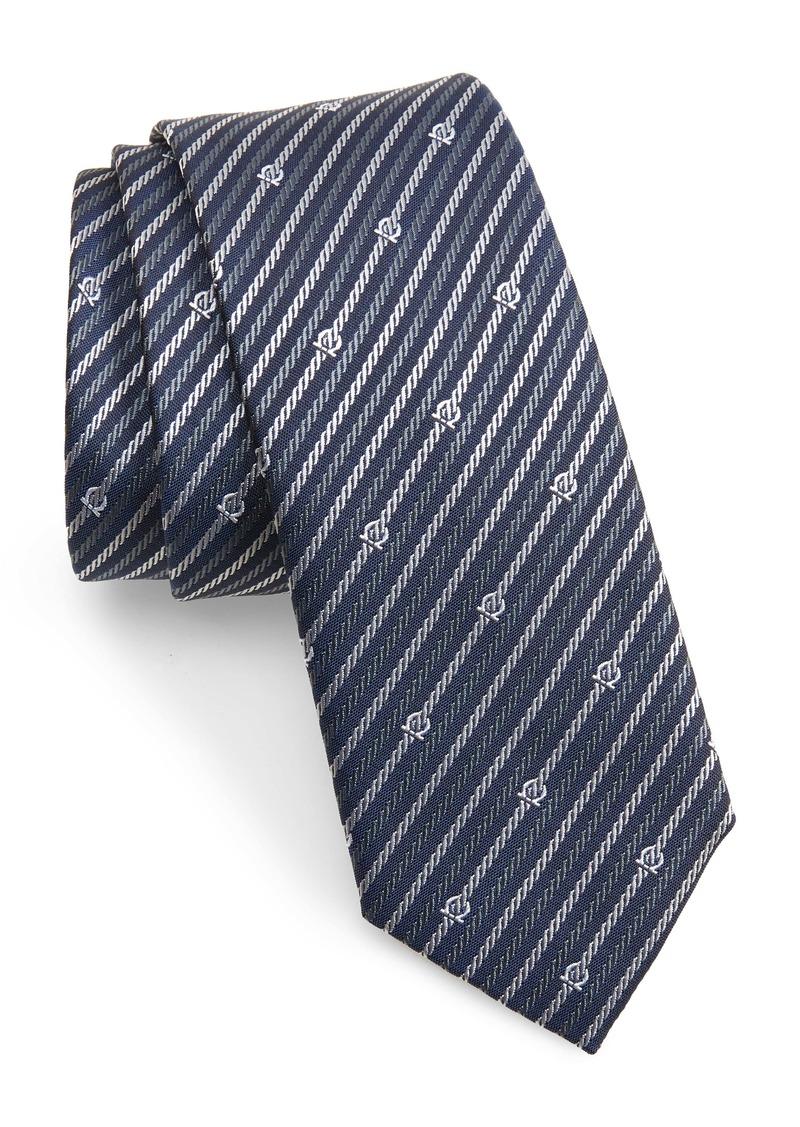 Salvatore Ferragamo Stripe Silk Tie