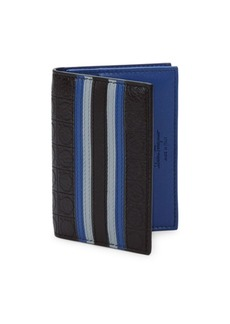 Salvatore Ferragamo Striped Leather Wallet