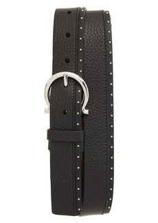 Salvatore Ferragamo Studded Leather Belt
