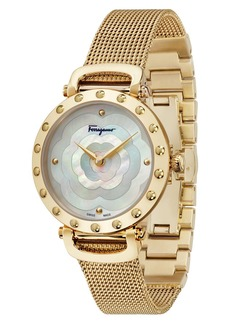 Salvatore Ferragamo Style Bracelet Watch, 34mm