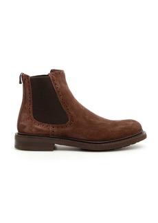 Salvatore Ferragamo Suede Barrow Boots