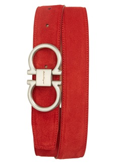 Salvatore Ferragamo Suede Belt