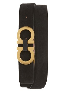 Salvatore Ferragamo Suede Leather Belt
