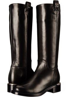 Salvatore Ferragamo Tall Leather Boot with Block Heel