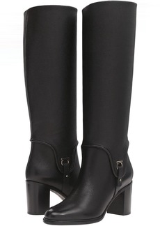 Salvatore Ferragamo Tall Leather Boot with Block Heel