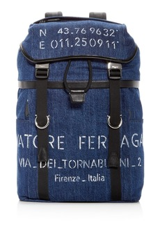 Salvatore Ferragamo Tessuto Denim Backpack