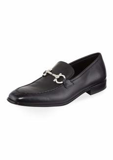 Ferragamo Men's Textured Calfskin Gancini Loafer