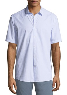 Ferragamo Men's Textured Cotton Short-Sleeve Sport Shirt