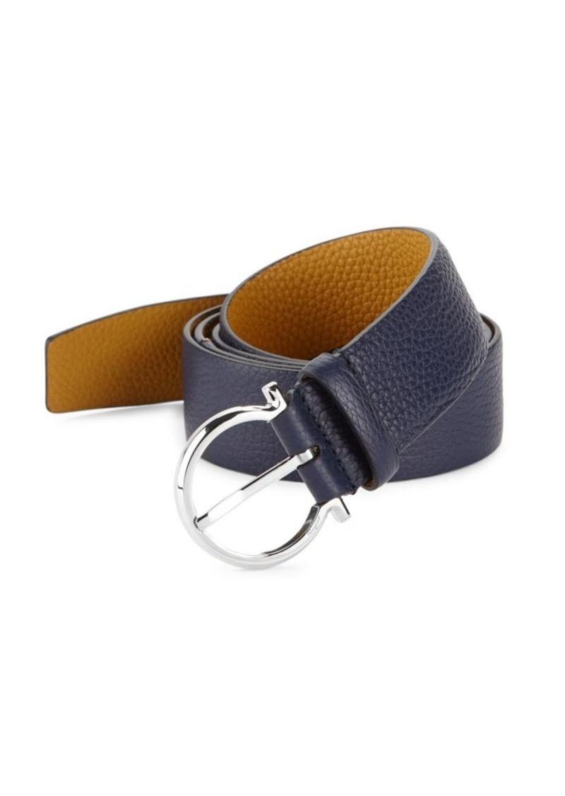 Ferragamo Gancio Buckle Belt with Extended Strap
