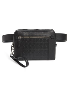 Salvatore Ferragamo Textured Leather Belt Bag