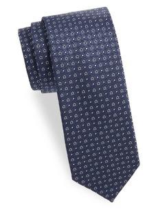 Ferragamo Textured Logo Silk Tie
