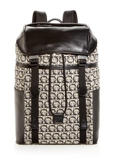 Salvatore Ferragamo The Gancini Jacquard Backpack