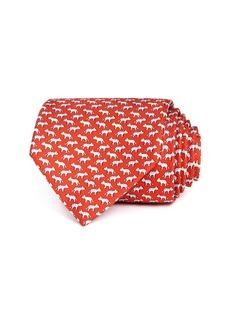 Salvatore Ferragamo Tiger Silk Classic Tie
