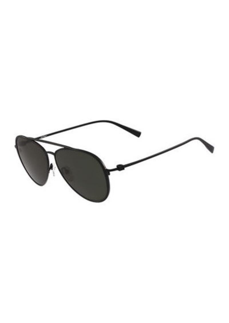 1603e7323d84 Ferragamo Salvatore Ferragamo Titanium Aviator Sunglasses   Sunglasses