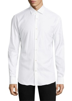 Ferragamo Tonal Gancini Regular-Fit Cotton Button-Down Shirt