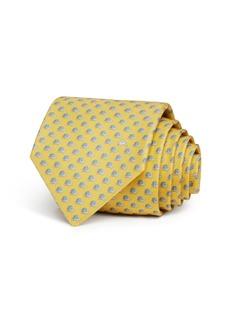 Salvatore Ferragamo Tortoise Silk Classic Tie