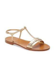 Salvatore Ferragamo Tremiti Chain Trim Flat Sandal (Women)