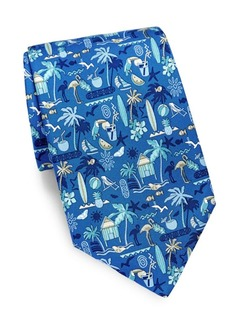 Ferragamo Tropical Silk Tie