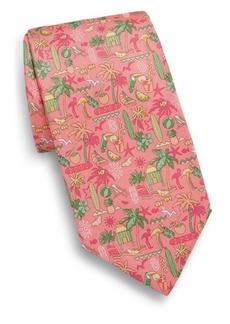 Ferragamo Tropical Silk Tie
