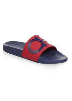 Ferragamo Gancini Pool Slide Sandals