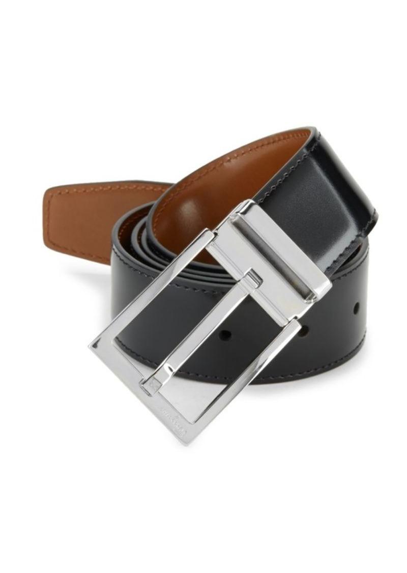 Ferragamo Adjustable & Reversible Classic Buckle Belt