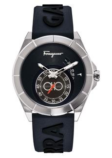Salvatore Ferragamo Urban Silicone Strap Watch; 43mm